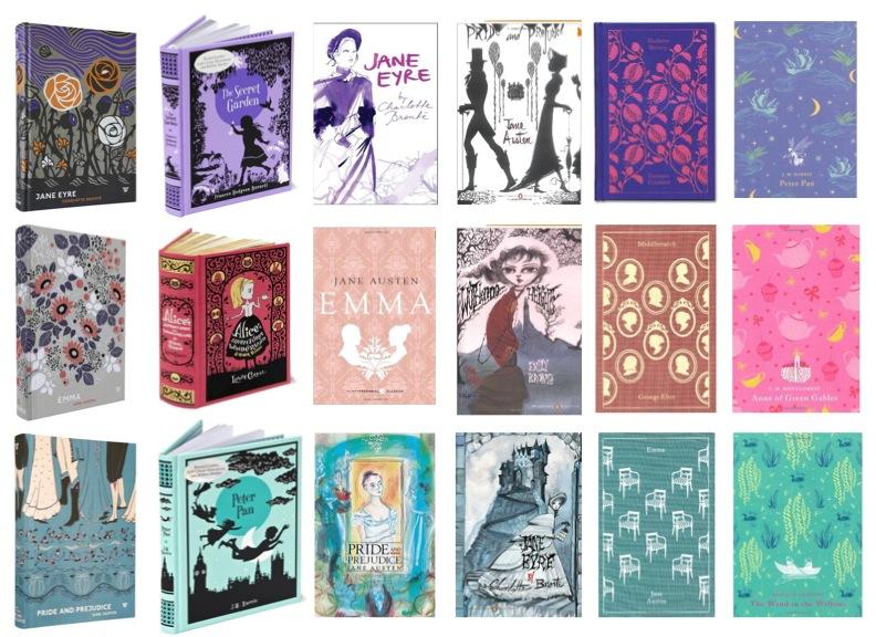 Pretty Book Covers Classics ~ Pretty classic books the pattern parlour
